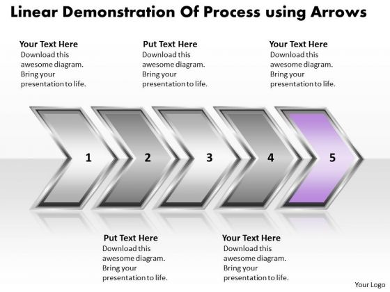 Ppt Linear Demonstration Of Marketing Process Using Arrows Business PowerPoint Templates