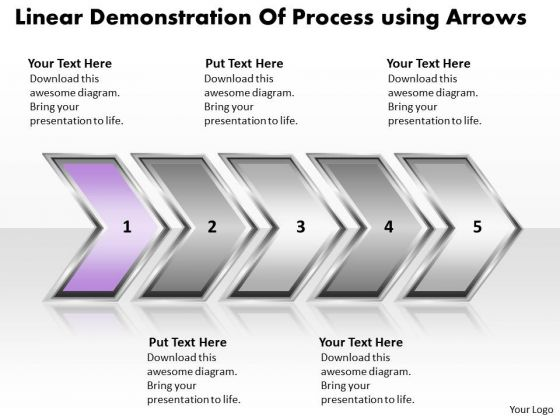Ppt Linear Demonstration Of Process Business PowerPoint Templates