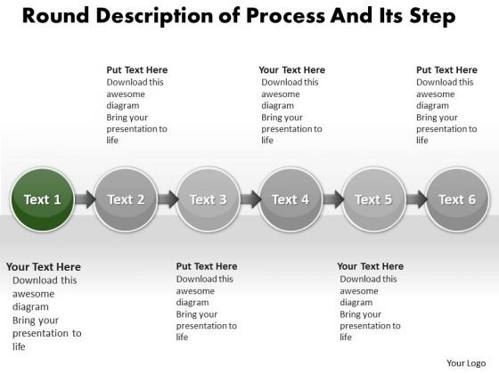 Ppt Linear Description Of Process And Its Step PowerPoint Templates