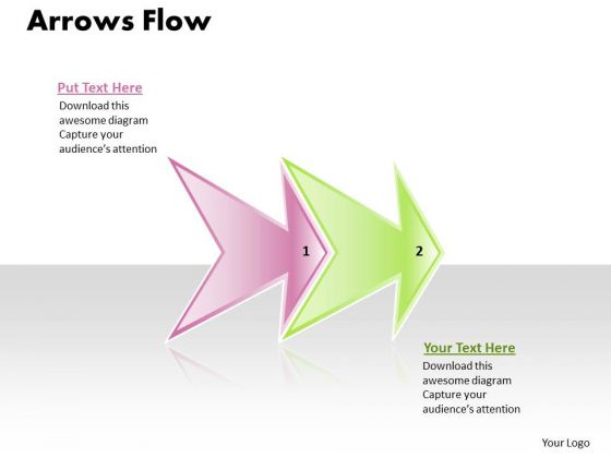 Ppt Linear Flow 2 Power Point Stage Apa Style PowerPoint Presentations 1 Templates