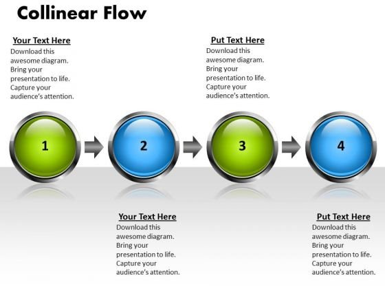 Ppt Linear Flow 4 Stages PowerPoint Templates