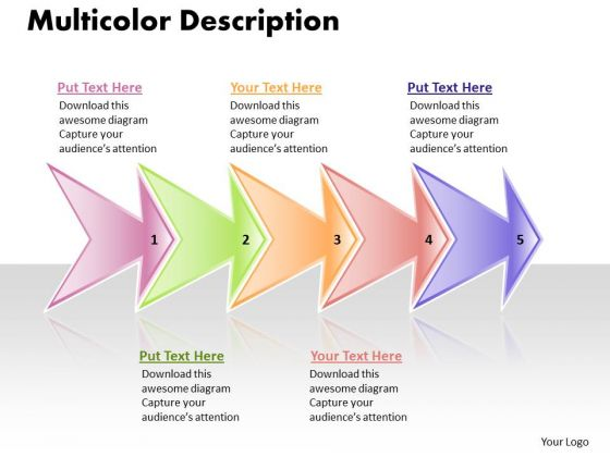 Ppt Linear Flow 5 Stages Picture Style PowerPoint 2010 Templates
