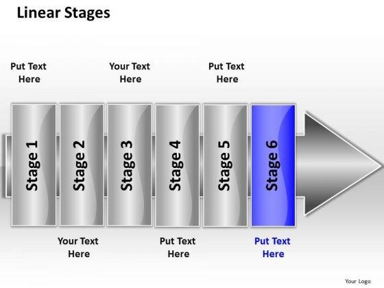 Ppt Linear Flow 6 Stage PowerPoint Templates