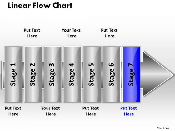 Ppt Linear Flow 7 Stages5 PowerPoint Templates