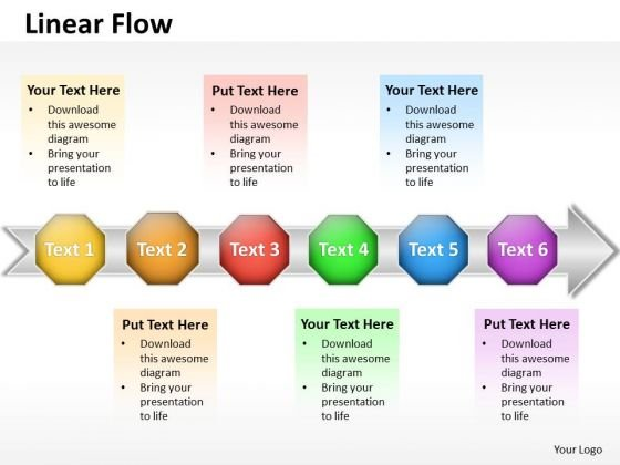 Ppt Linear Flow Actions Communication Process PowerPoint Presentation Templates