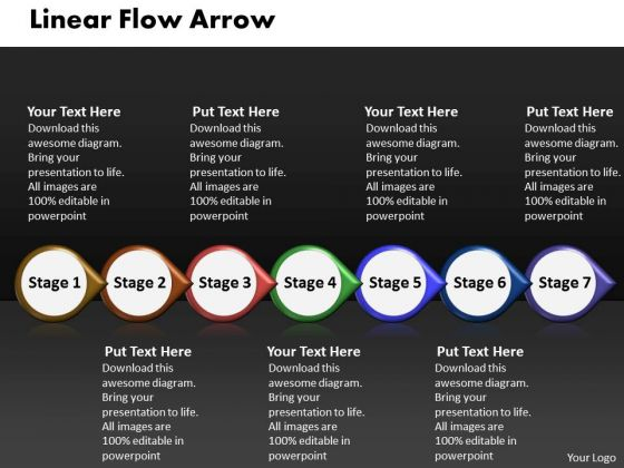 Ppt Linear Flow Arrow Business 7 Power Point Stage PowerPoint Templates