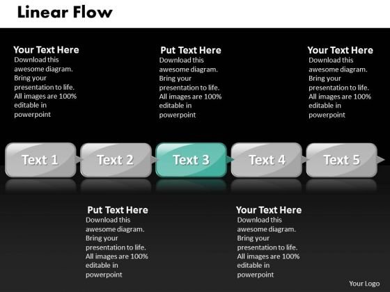 Ppt Linear Flow Of 5 Stages Involved Business PowerPoint Presentation Templates