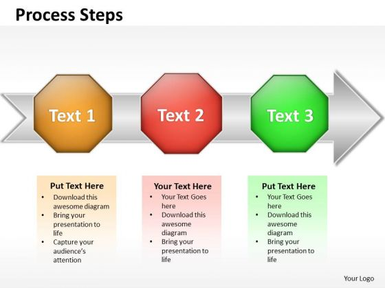 Ppt Linear Flow Of Steps Working With Slide Numbers PowerPoint Templates