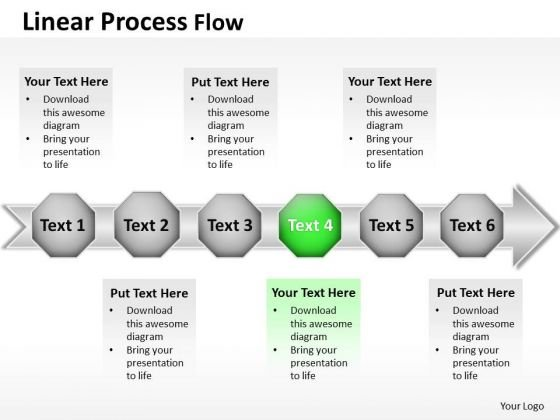 Ppt Linear Flow PowerPoint Theme Proceeding Process Templates