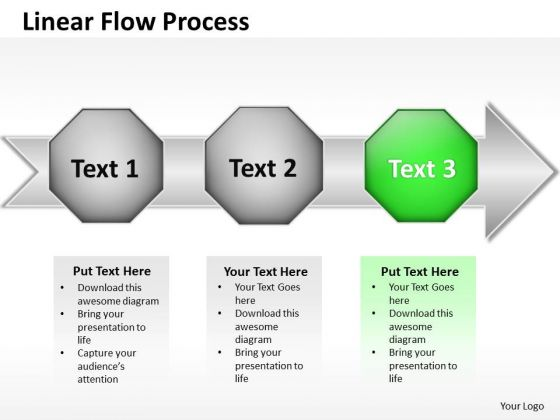 Ppt Linear Flow Process Scientific Method Steps PowerPoint Templates
