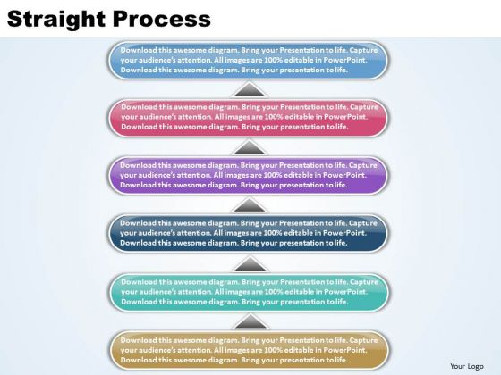 Ppt Linear Process 6 State PowerPoint Presentation Diagram Templates