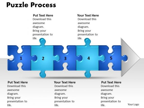 Ppt Linear Process Flow PowerPoint Template 5 Stages Style1 Templates