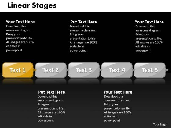 Ppt Linear Process Of 5 Steps Involved Business PowerPoint Theme Templates