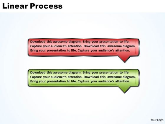 Ppt Linear Process Using 2 Bubble Curved Arrows PowerPoint 2010 Templates