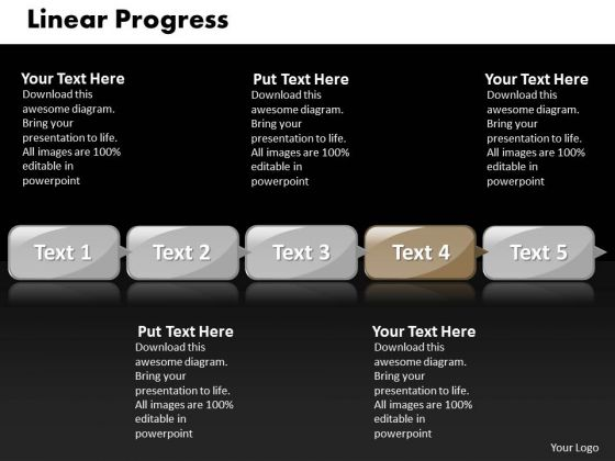 Ppt Linear Progress Of 5 Steps Involved Business PowerPoint Templates