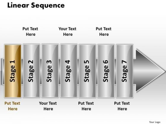 Ppt Linear Sequence 7 Stages5 PowerPoint Templates