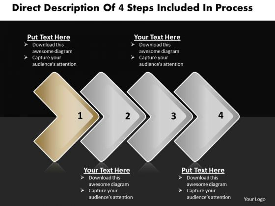 Ppt Linear Steps Included Process Business Plan PowerPoint 2 Templates