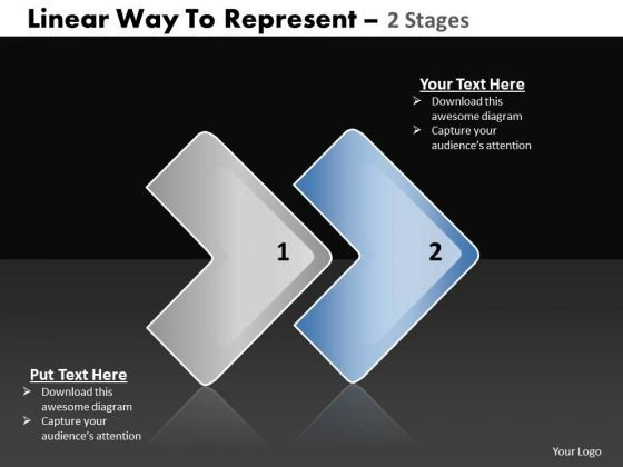 Ppt Linear Way To Represent 2 Power Point Stage PowerPoint Templates