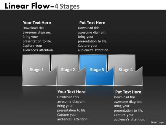 Ppt Mechanism Of Four Stages Marketing Linear Flow Project Management PowerPoint 4 Image