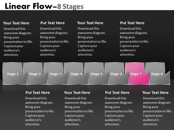 Ppt Multicolored Sequential Flow Diagram Occupational Communication PowerPoint 8 Image