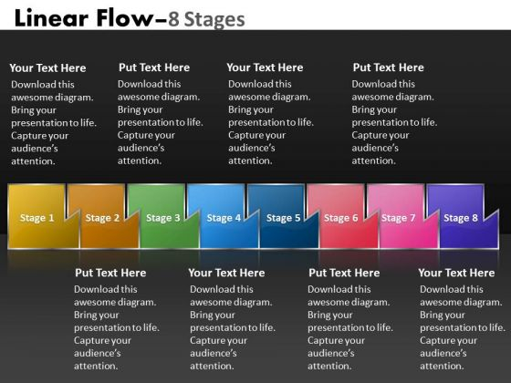 Ppt Multicolored Sequential Flow Process Charts Network Diagram PowerPoint Template 1 Graphic