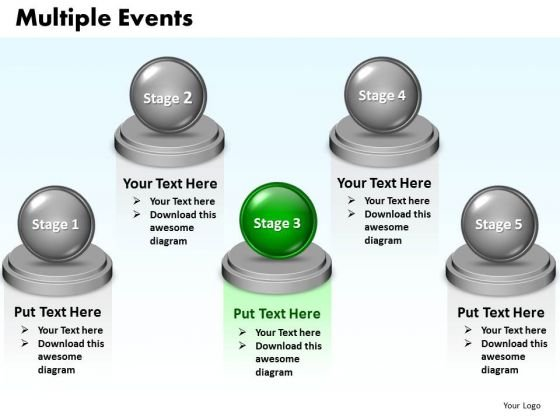 Ppt Multiple Events Diagram 5 Stages Sample Presentation PowerPoint 0812 Templates