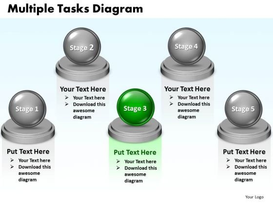 Ppt Multiple Tasks Diagram Layouts PowerPoint 2007 Templates
