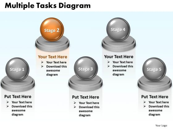 Ppt Multiple Tasks Model 5 Stages Presentation PowerPoint Templates