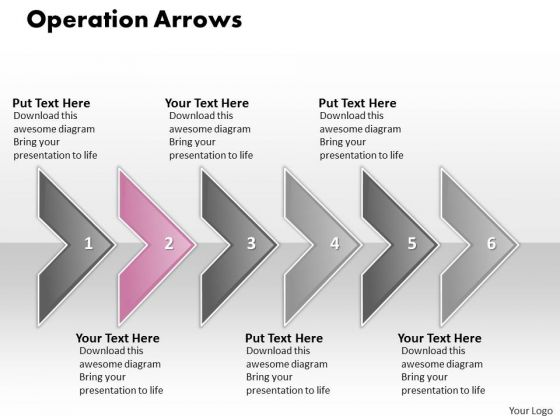 Ppt Operation Of 6 Concepts Through Shapes Arrows PowerPoint Templates