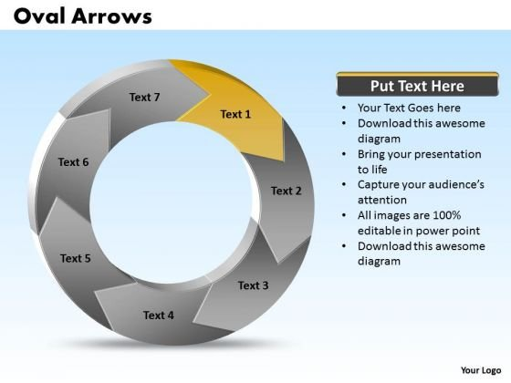 Ppt Oval Arrows PowerPoint 2010 7 State Diagram Templates