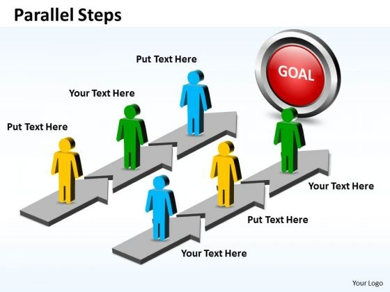 Ppt Parallel Steps Working With Slide Numbers Plan For Planning Business PowerPoint Templates