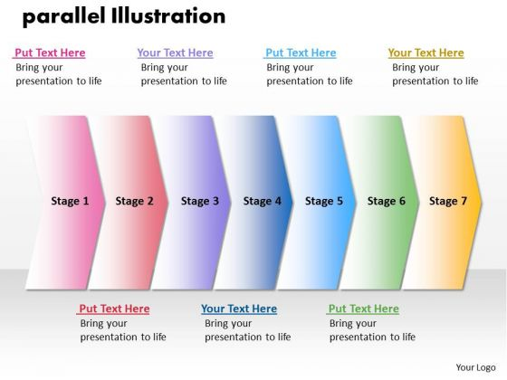 Ppt Parellel Illustration Of 7 PowerPoint Slide Numbers Templates