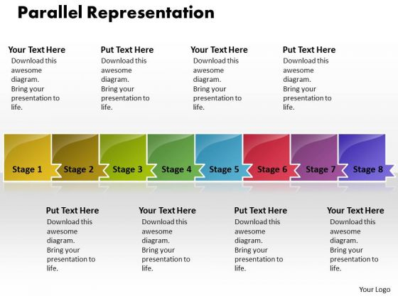 Ppt Parellel Representation Of 8 Issues PowerPoint Templates
