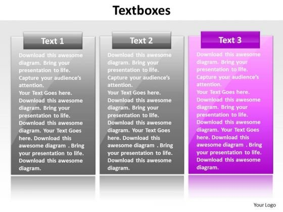 Ppt Pink Layouts PowerPoint 2003 Free Download Text Box Representation Templates