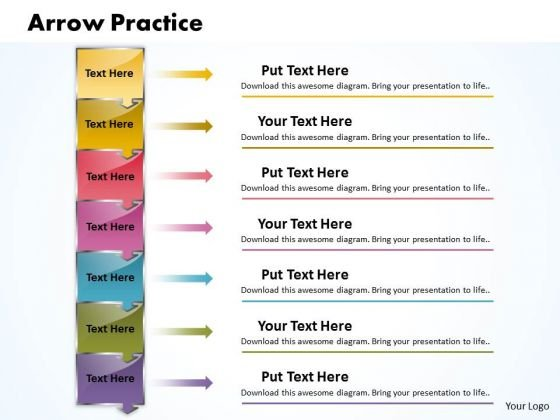 Ppt Plumb Arrow Practice The PowerPoint Macro Steps 7 Stages Templates