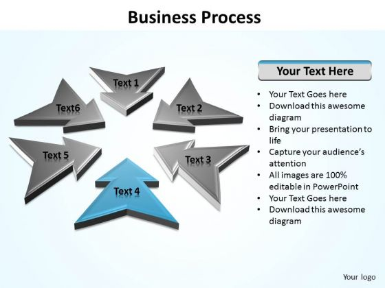Ppt Pointed Arrows Of Free Concept Process Editable PowerPoint Templates