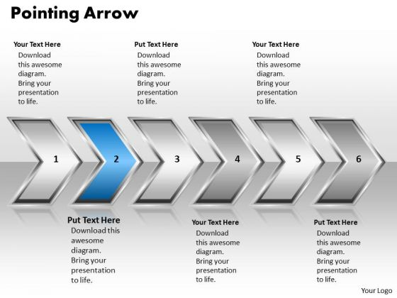 Ppt Pointing Arrow Communication Process PowerPoint Presentation 6 Stages Templates