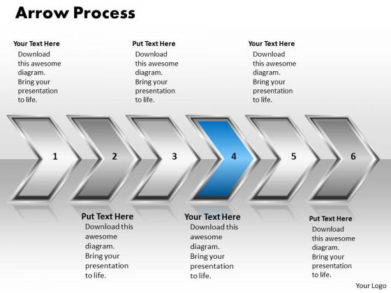 Ppt Pointing Continous Arrow Process 6 Stages PowerPoint Templates