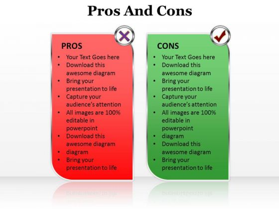 Ppt Pros And Cons Of The Topic Editable Communication Skills