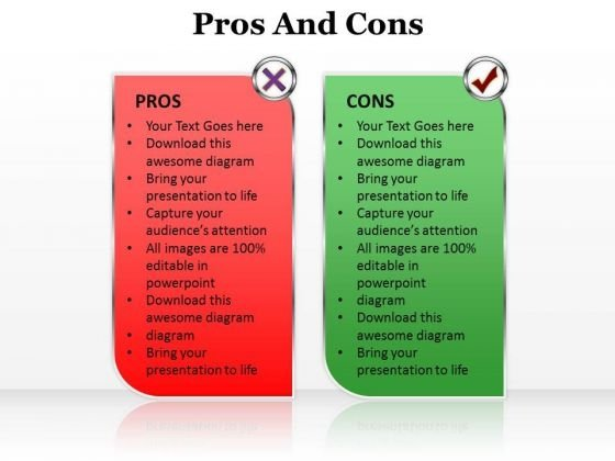 Ppt Pros And Cons Of The Topic PowerPoint Templates