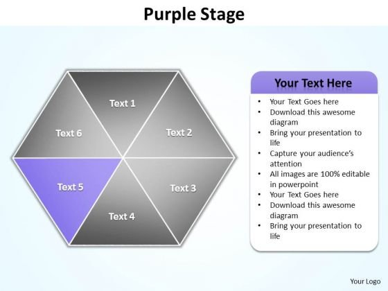 Ppt Purple Factor Hexagon Diagram PowerPoint Free Editable Maps Templates