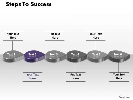 Ppt Purple Step To Success Using Circular Motion PowerPoint Arrow Templates