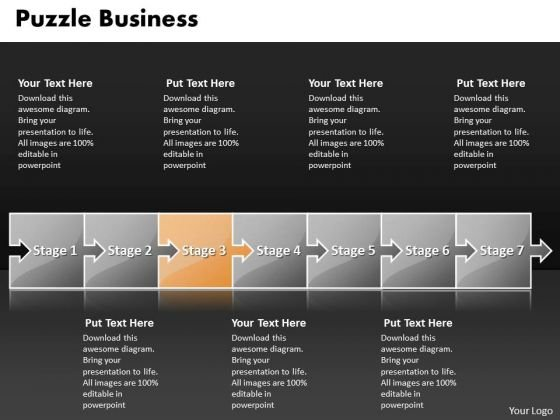 Ppt Puzzle Financial Communication Process PowerPoint Presentation Flow Diagarm Templates