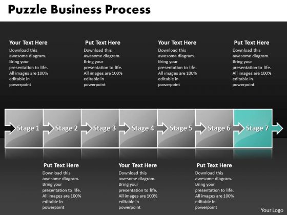 Ppt Puzzle Free Concept Design PowerPoint Template Process Outflow Diagarm Templates