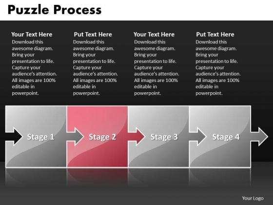 Ppt Puzzle Process Business PowerPoint Theme Startegy Templates