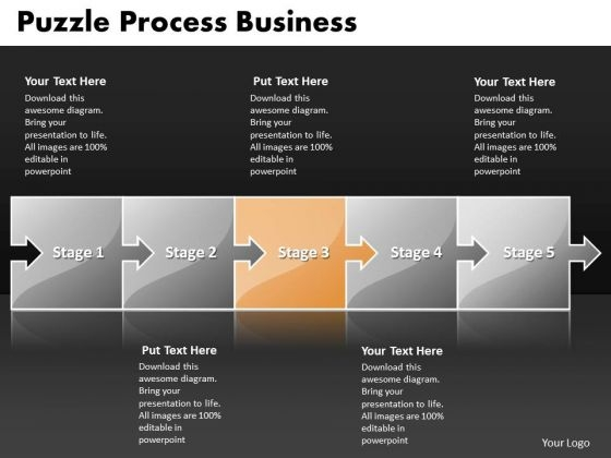 Ppt Puzzle Process PowerPoint Presentation Business Sequence Of Task Templates