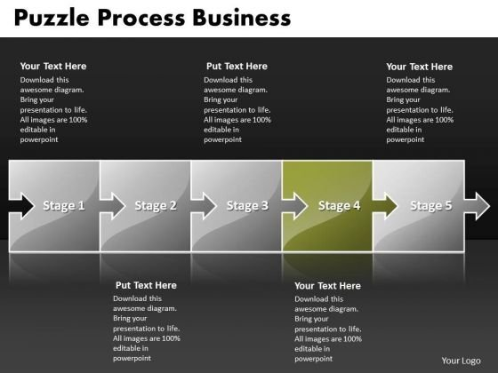 Ppt Puzzle Steps New Business PowerPoint Layouts Free Flow Chart Templates