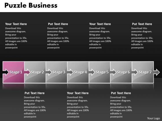 Ppt Puzzle World Business Presentation PowerPoint Templates Process Flow Layout