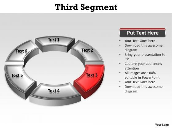 Ppt Red Quadrant On Circular Free Pie PowerPoint Template Chart Ks2 Templates