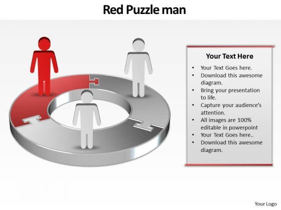 Ppt Red World Business Layouts People Stand On Circular Chart PowerPoint Templates